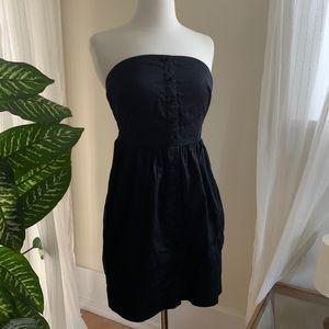UO Silence+Noise Strapless Dress Black